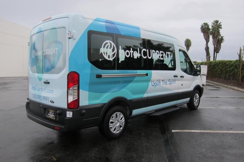 full vehicle wrap ford transit passenger van long beach ca. Black Bedroom Furniture Sets. Home Design Ideas
